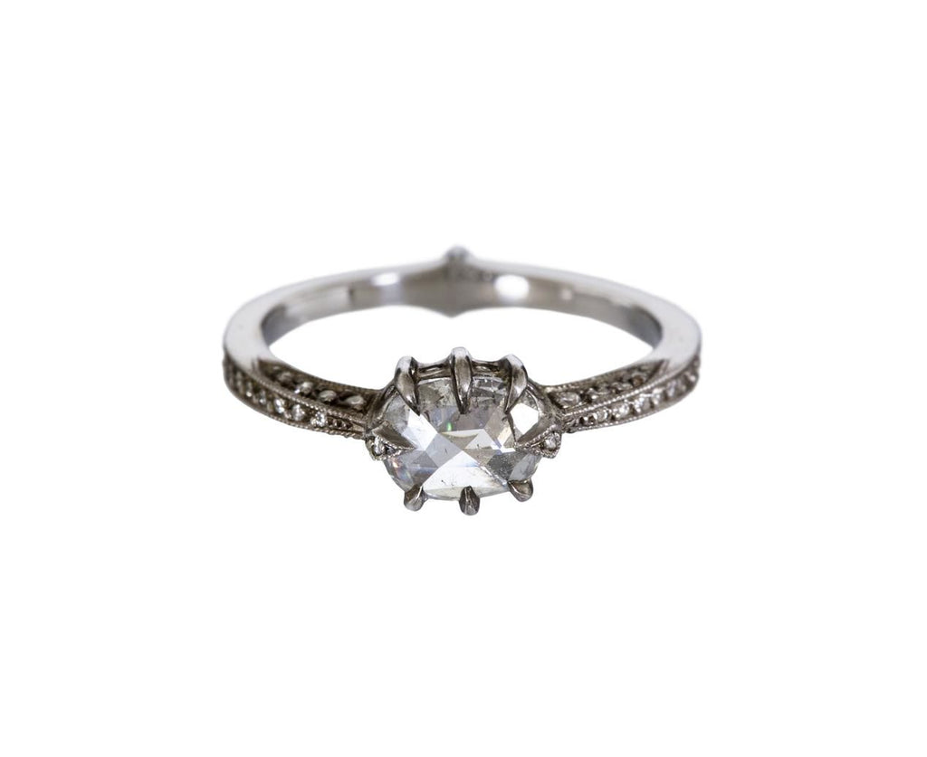Rose Cut Diamond Cat Claw Solitaire zoom 1_cathy_waterman_platinum_diamond_cat_claw_ring