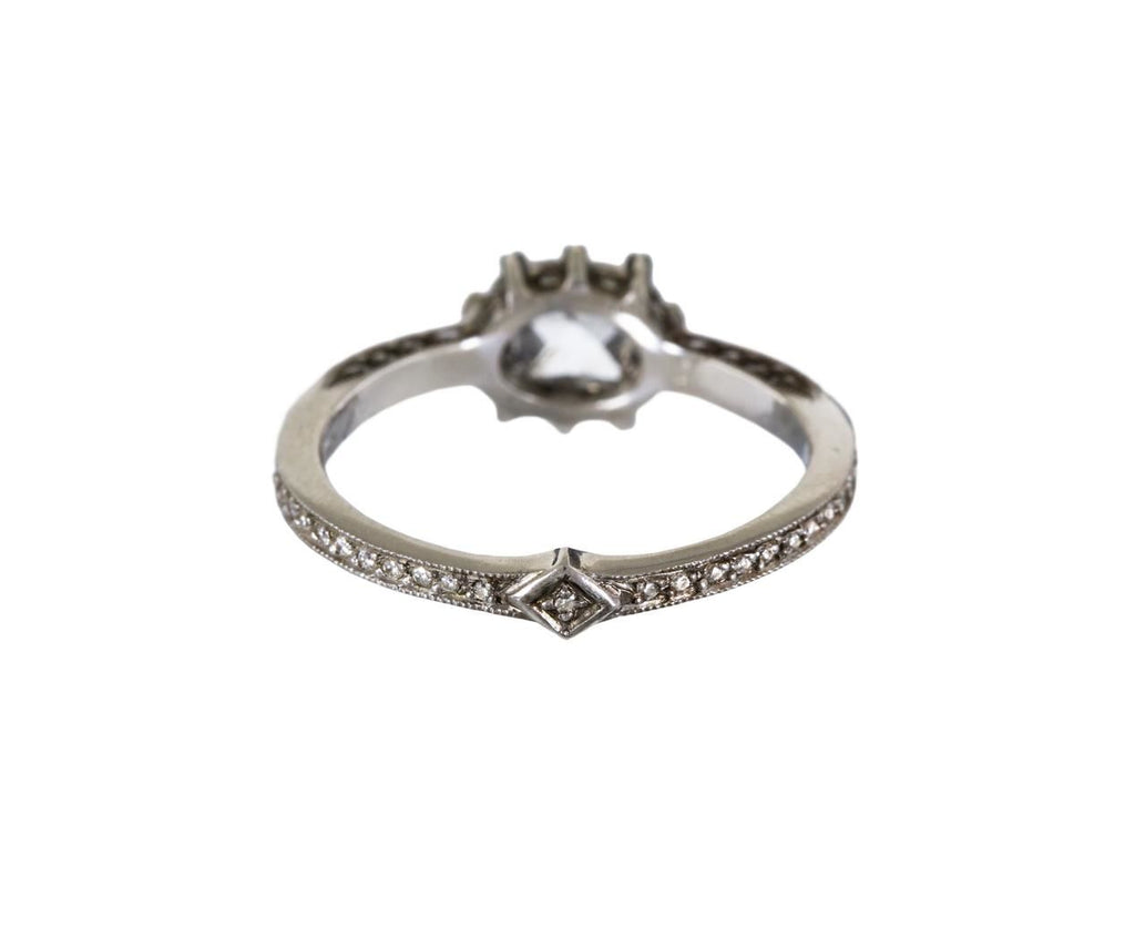 Rose Cut Diamond Cat Claw Solitaire zoom 3_cathy_waterman_platinum_diamond_cat_claw_ring