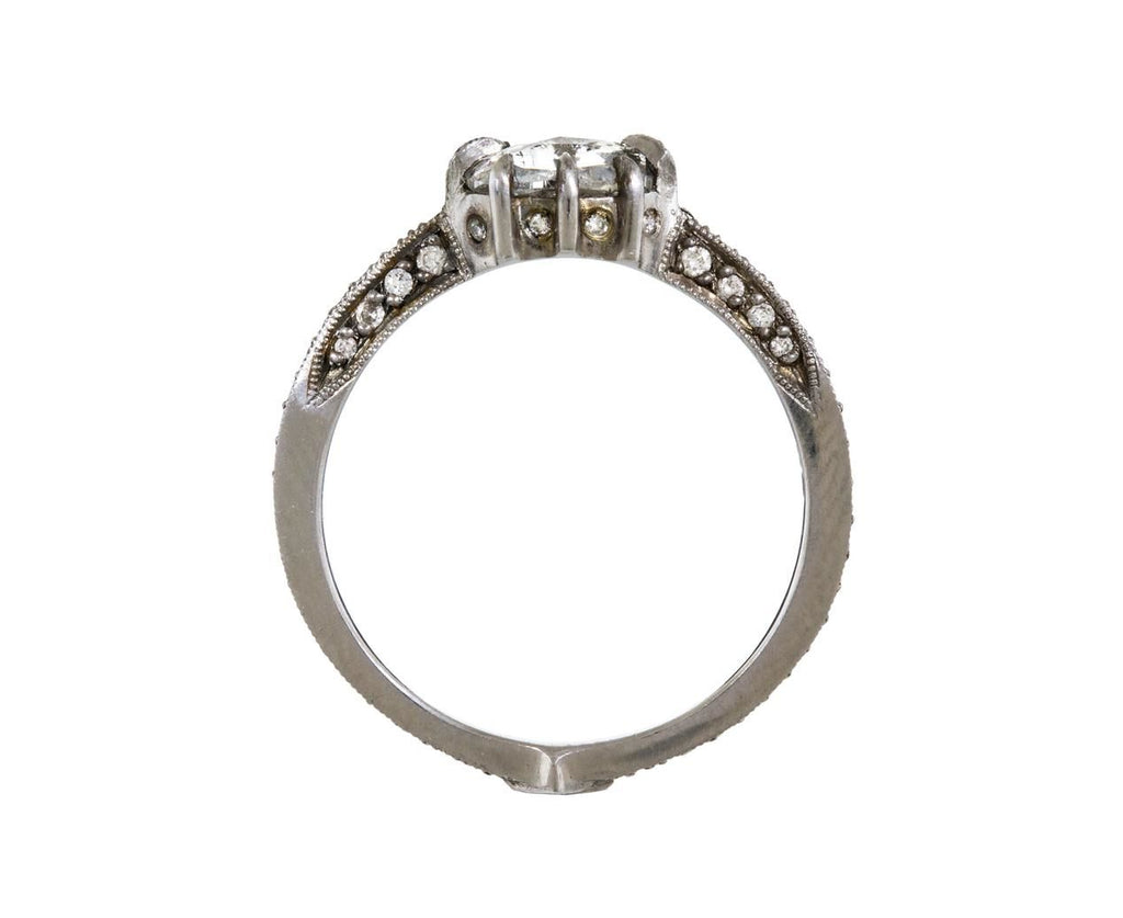 Rose Cut Diamond Cat Claw Solitaire zoom 4_cathy_waterman_platinum_diamond_cat_claw_ring