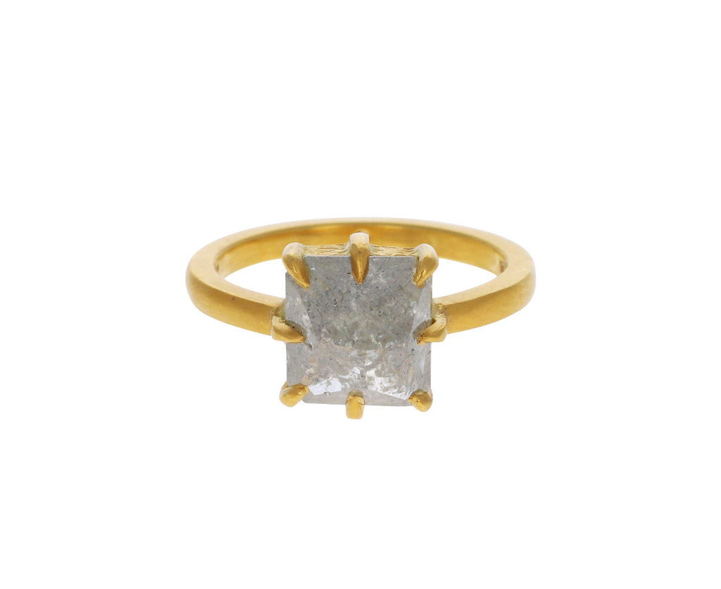 Cathy Waterman Gray Diamond Cat Claw Prong Ring