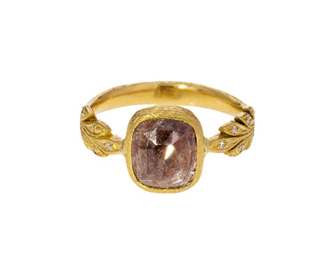 Rustic Brown Diamond Leafside Ring