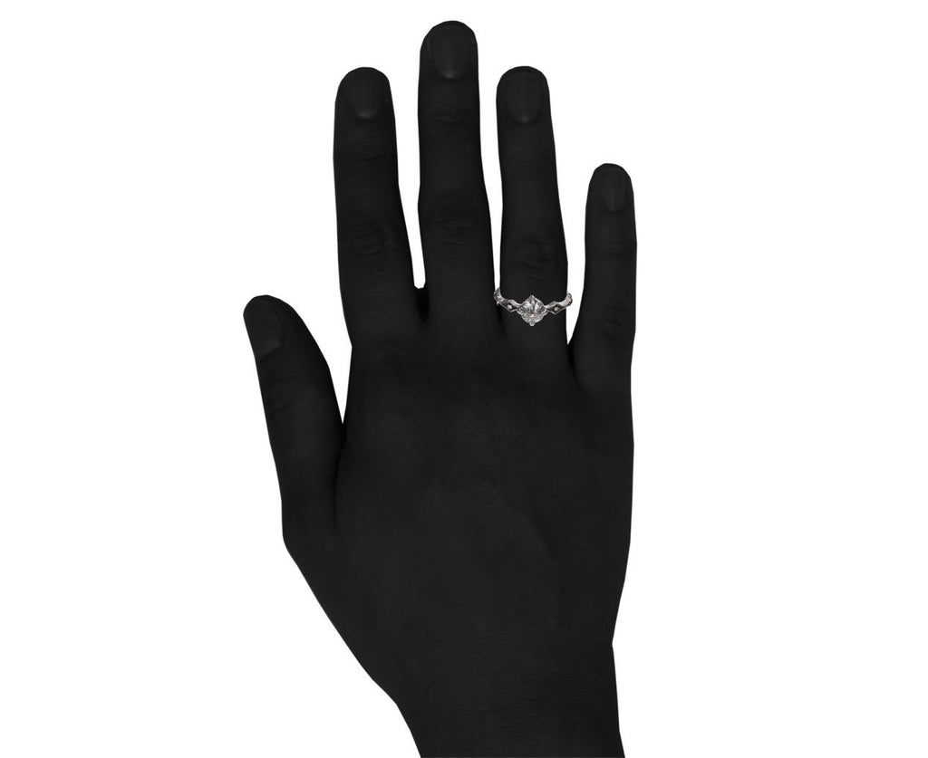 Black and White Diamond Solitaire zoom 9_cathy_waterman_platinum_diamond_six_stone_shank_