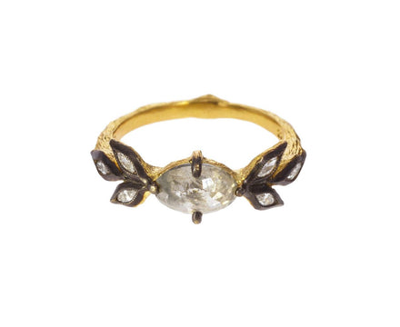 Rustic Diamond Marquise Leaf Ring - TWISTonline