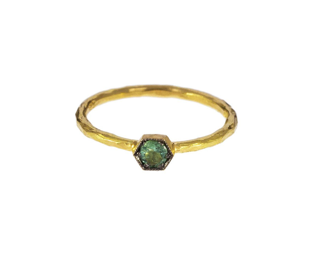 Green Tourmaline Hexagonal Ring - TWISTonline
