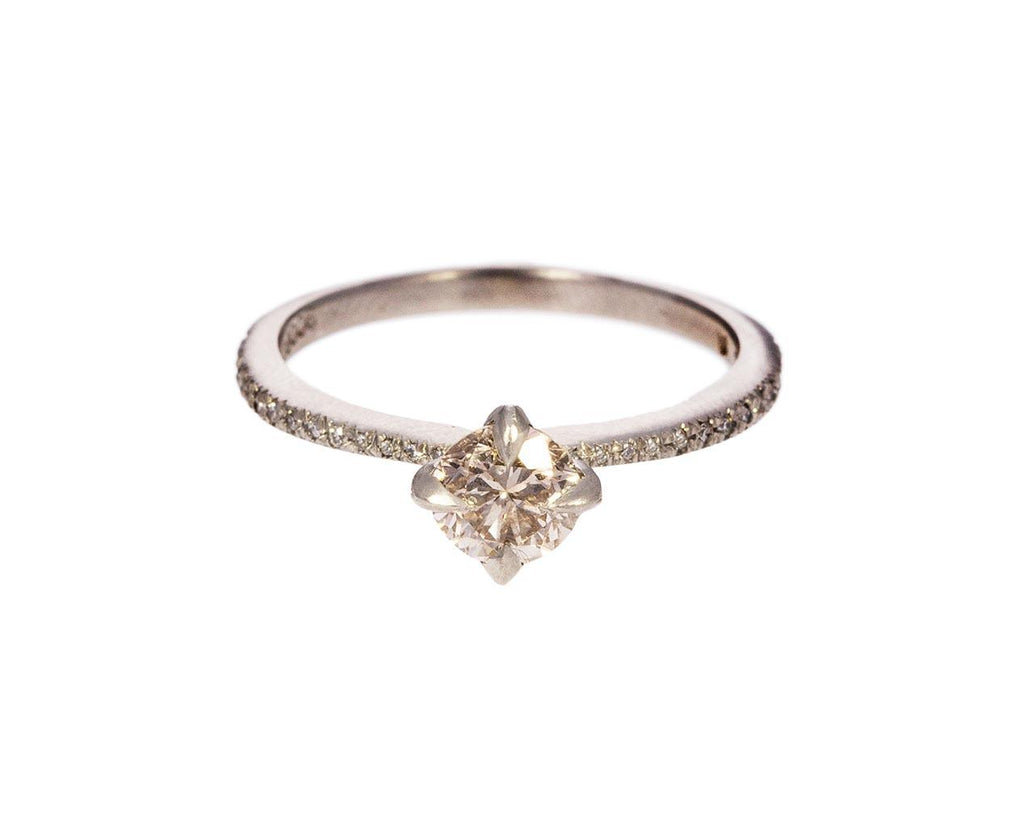 Apricot Diamond Solitaire zoom 1_cathy_waterman_platinum_apricot_diamond_ring