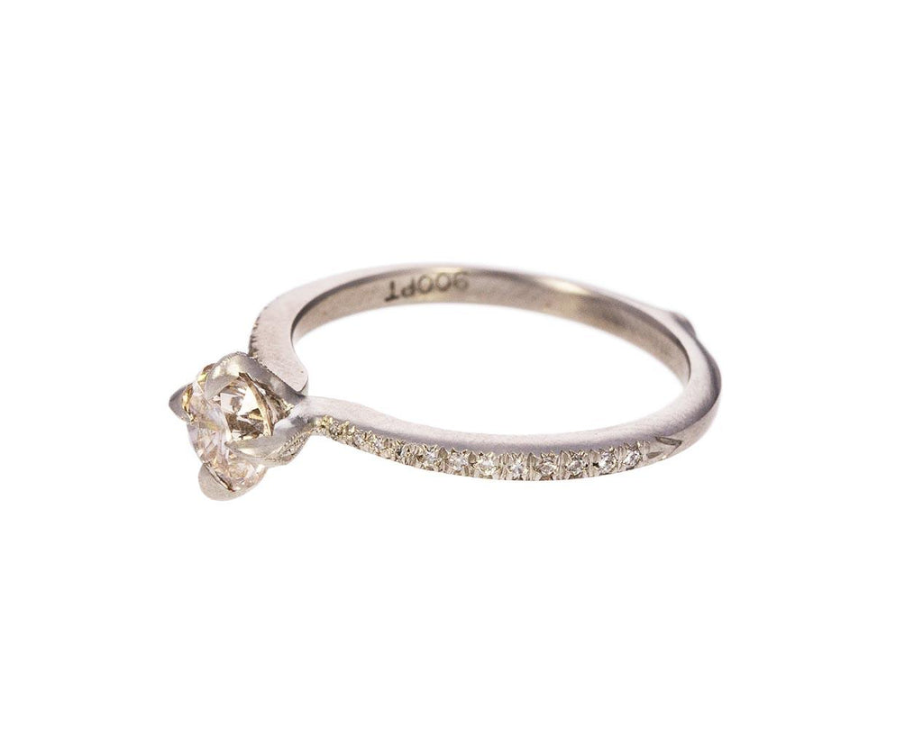 Apricot Diamond Solitaire zoom 2_cathy_waterman_platinum_apricot_diamond_ring