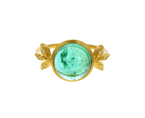 Green Tourmaline Moderne Ring