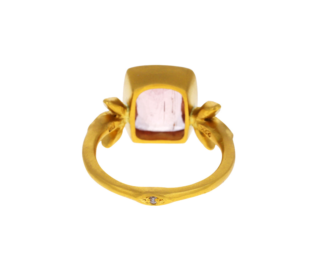 Peach Tourmaline Moderne Ring