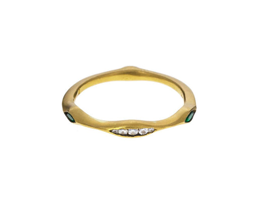 Diamond Emerald Triple Marquise Band - TWISTonline