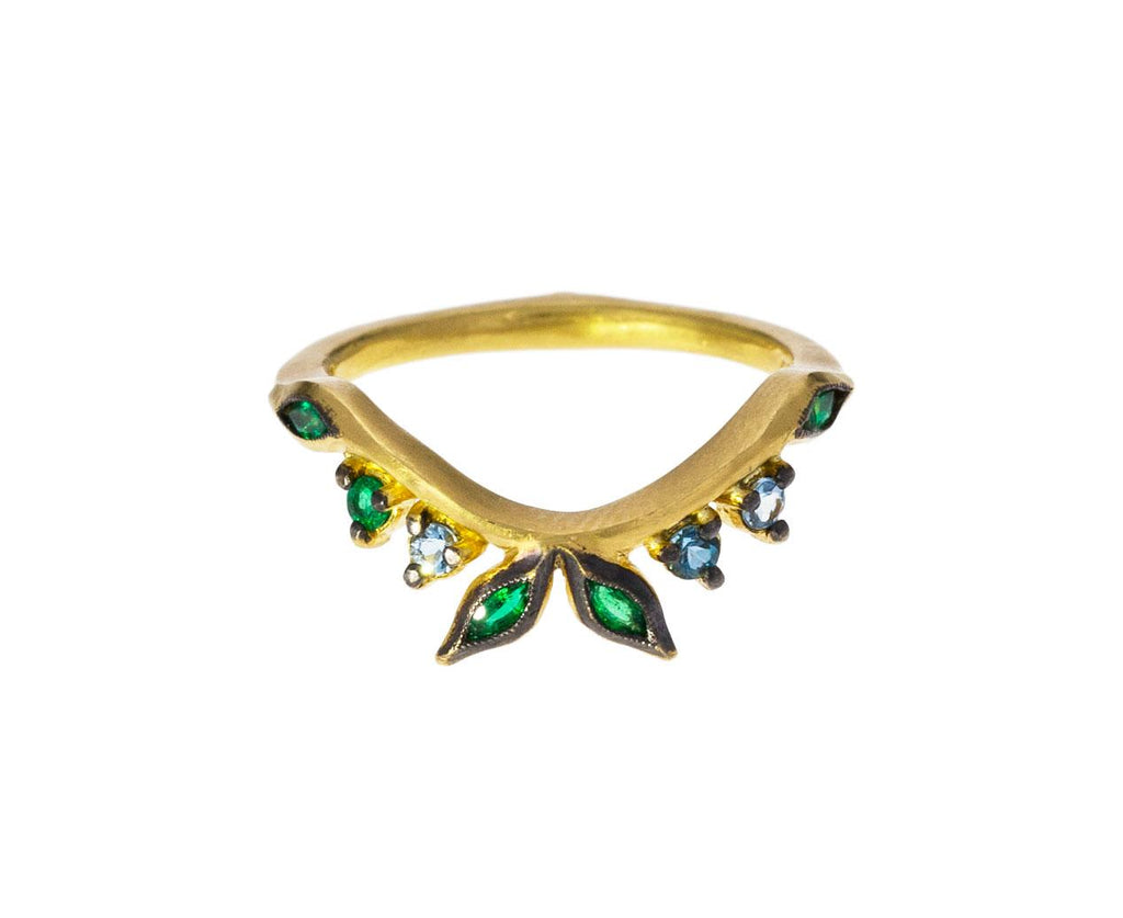 Emerald Garland Crown Ring - TWISTonline
