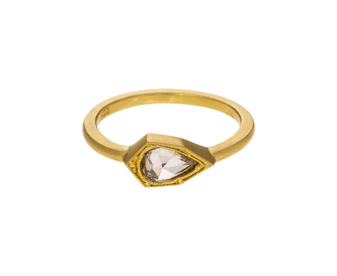 Pear Shaped Champagne Diamond Ring - TWISTonline
