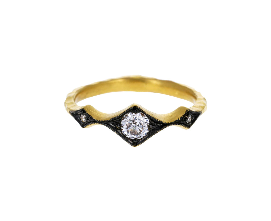 Apricot Diamond Tapered Ring