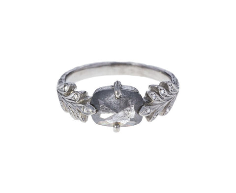 Rustic Diamond Leafside Ring zoom 1_cathy_waterman_platinum_diamond_leafside_ring