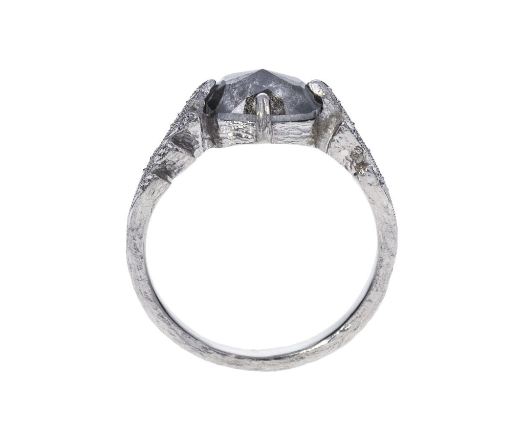 Rustic Diamond Leafside Ring zoom 3_cathy_waterman_platinum_diamond_leafside_ring