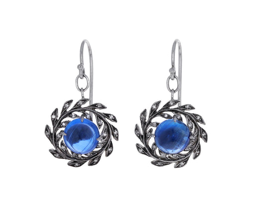 Kyanite Wheat Wreath Earrings