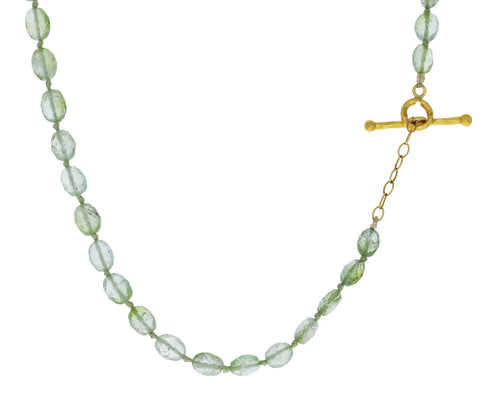 Green Tourmaline Beaded Necklace