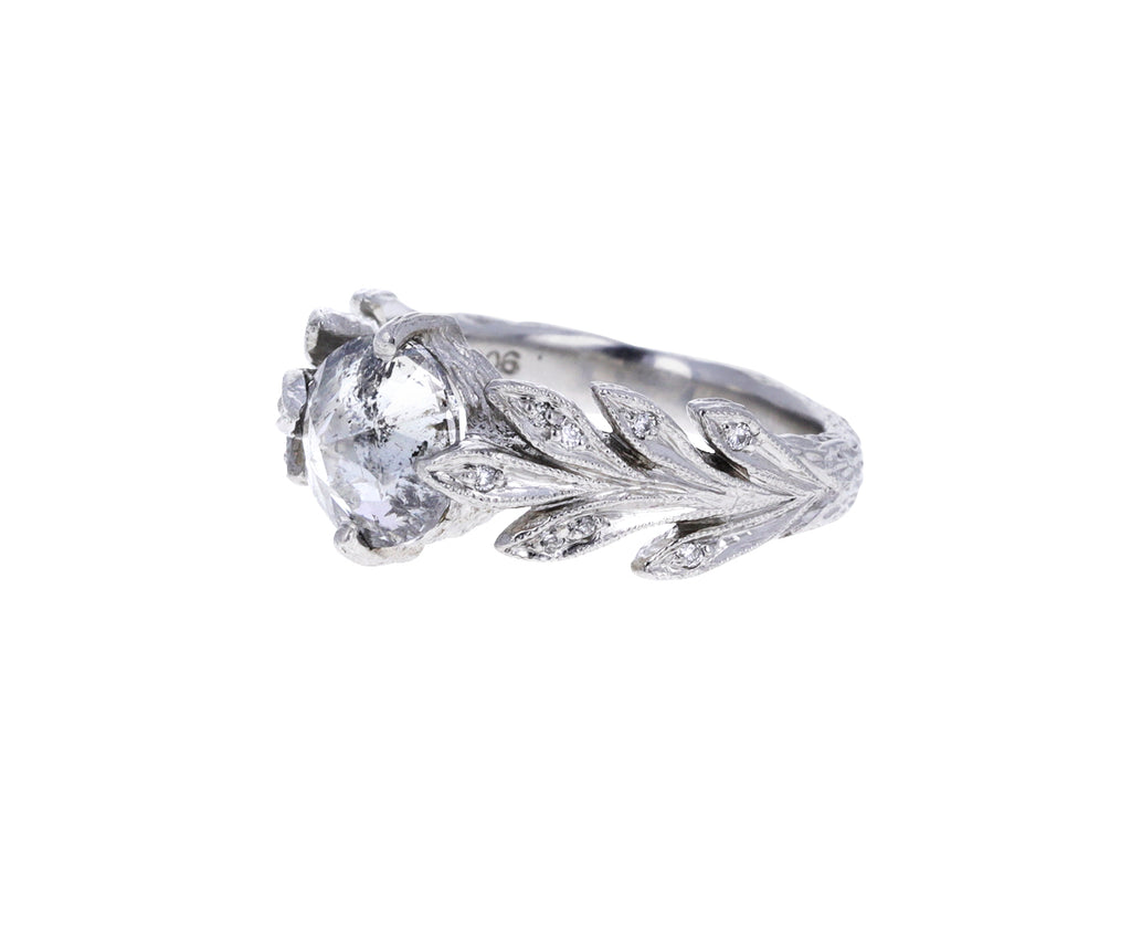 Inverted Diamond Leafside Ring