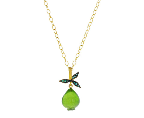 Peridot Fig Charm Pendant ONLY