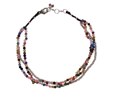 Multi-Gem Beaded Bracelet