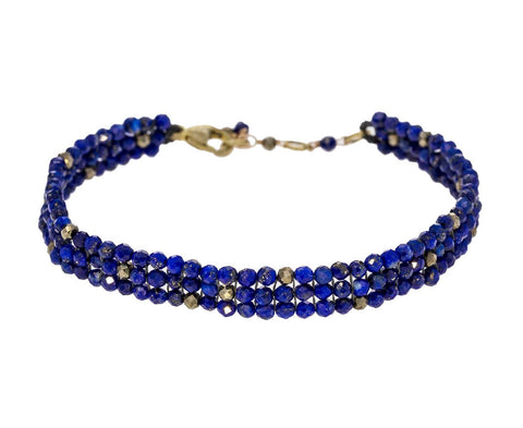 Lapis and Pyrite Beaded Bracelet - TWISTonline