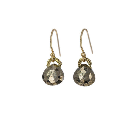 Baby Pyrite Drop Earrings - TWISTonline