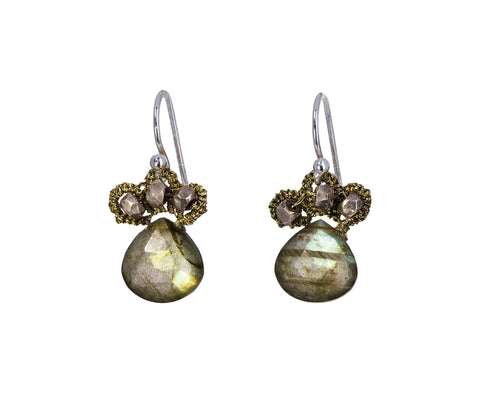 Labradorite Fleur de Lis Earrings - TWISTonline
