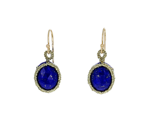 Caged Lapis Earrings