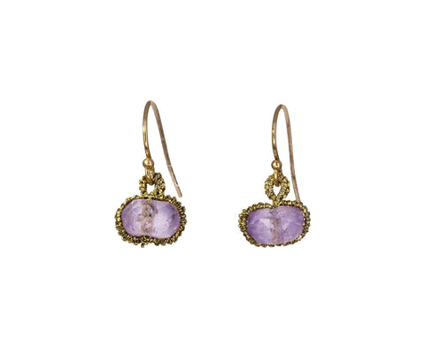 Pink Amethyst Sphere Earrings