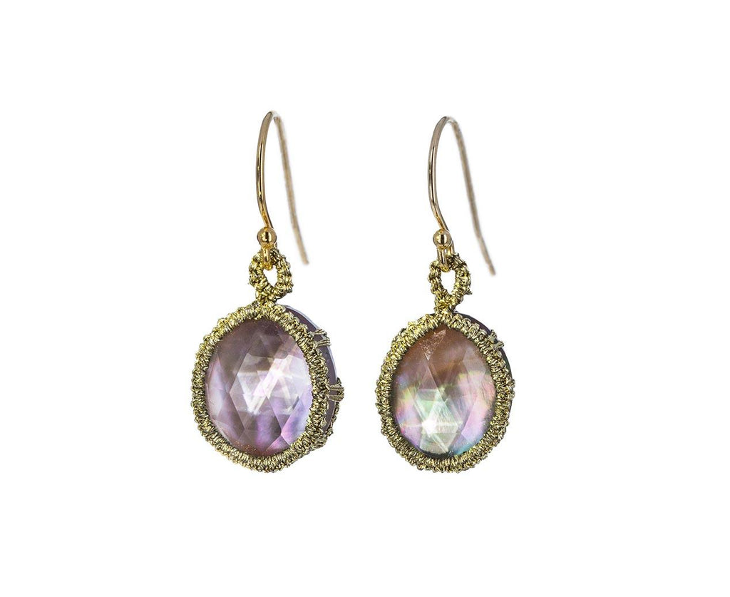 Mother of Pearl Woven Earrings - TWISTonline
