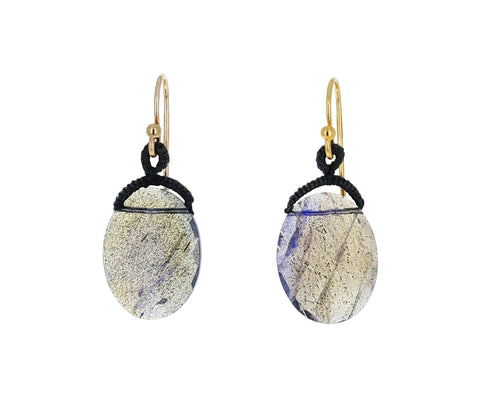 Labradorite Oval Drop Earrings - TWISTonline
