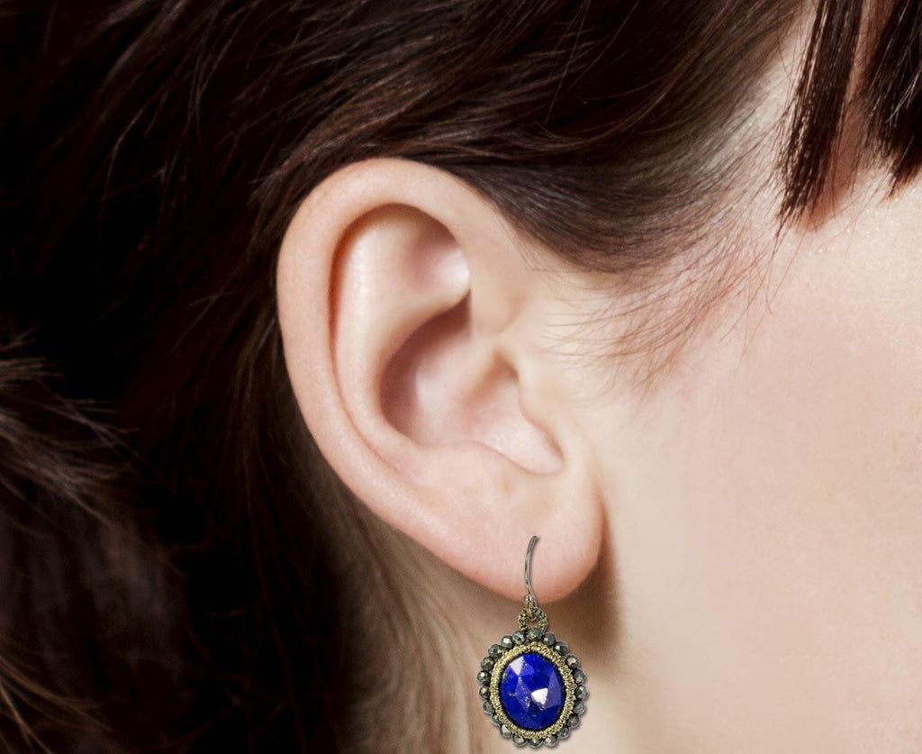 Caged Lapis and Beaded Pyrite Earrings zoom 8_danielle_welmond_caged_lapis_earrings