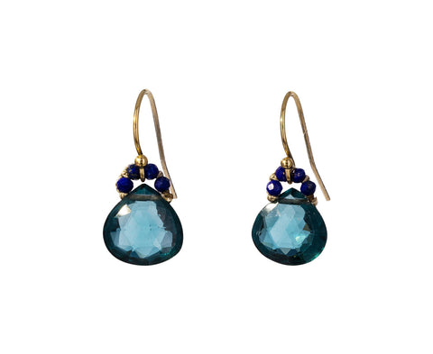 London Blue Quartz Drop Earrings