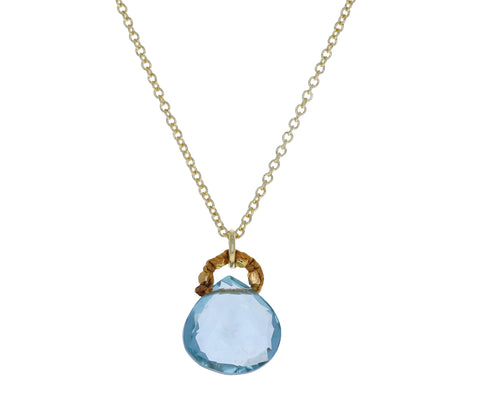Blue Quartz Pendant Necklace