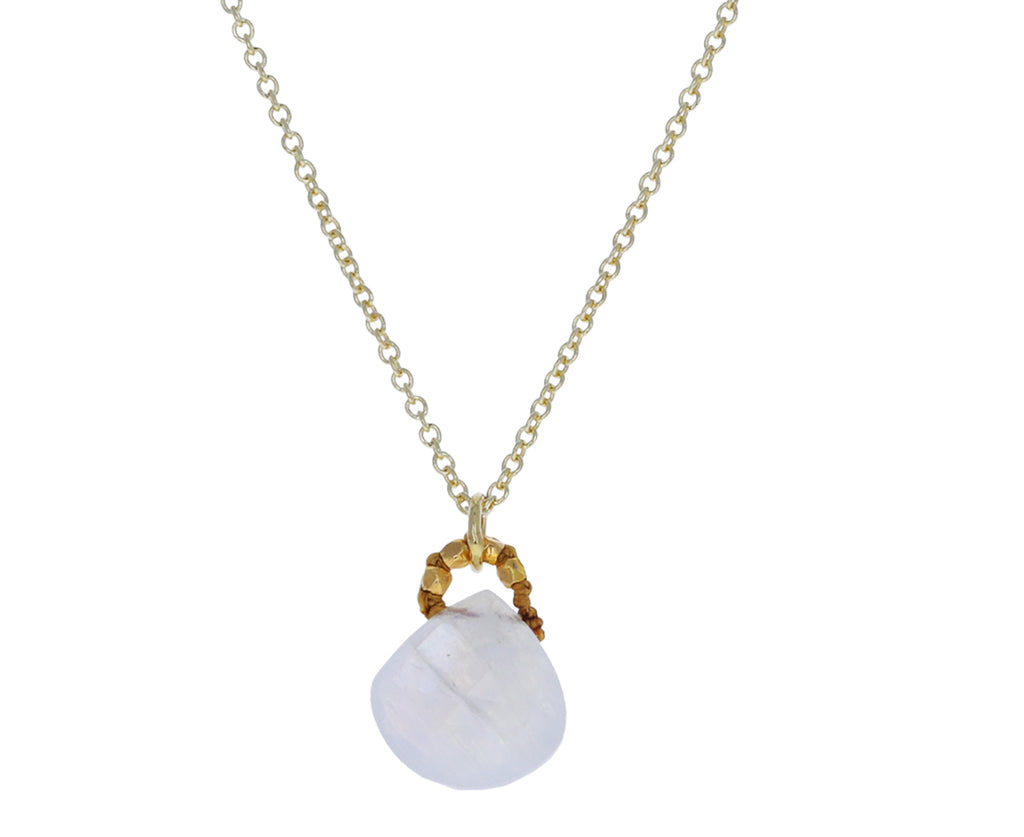 Rainbow Moonstone Drop Necklace