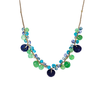 Chrysoprase, Lapis and Turquoise Beaded Necklace - TWISTonline