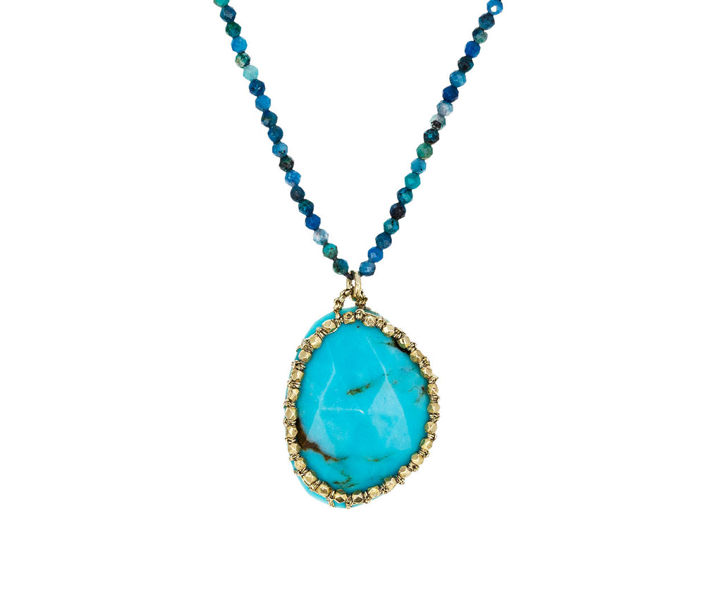 Caged Turquoise and Chrysocolla Beaded Necklace - TWISTonline