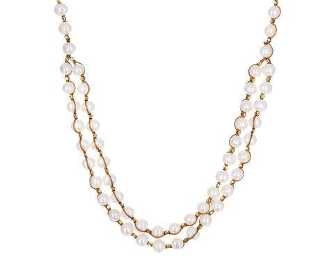 Double White Pearl Strand Necklace - TWISTonline