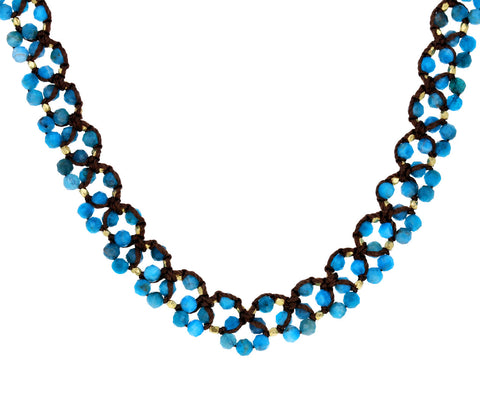 Apatite Woven Necklace