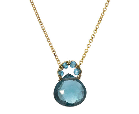 London Blue Quartz Pendant Necklace - TWISTonline