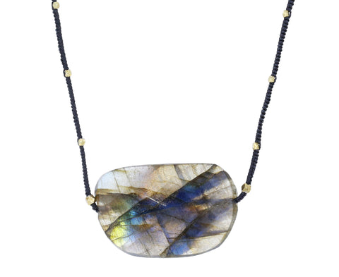 Large Labradorite Pendant Necklace