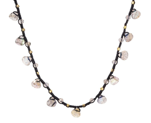 Labradorite Drop Beaded Necklace - TWISTonline