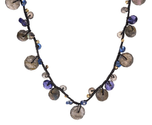 Labradorite and Kyanite Beaded Necklace zoom 1_danielle_welmond_labradorite_kyanite_necklace