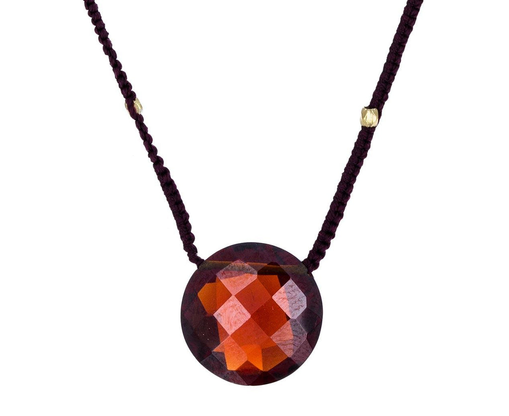 Garnet Quartz Coin Pendant zoom 1_danielle_welmond_garnet_drop_necklace