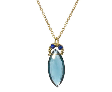 Marquise London Blue Quartz Pendant - TWISTonline