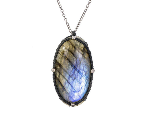 Caged Labradorite Pendant Necklace zoom 1_danielle_welmond_caged_labradorite_necklace