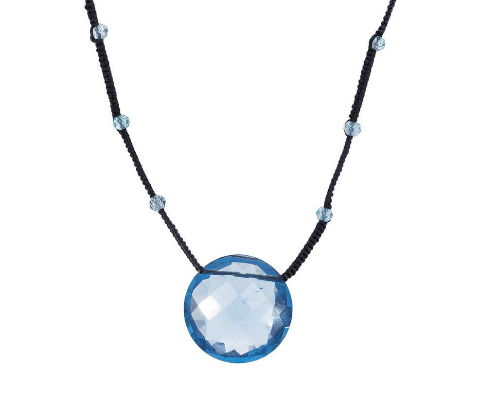 Blue Quartz Coin Pendant Necklace zoom 1_danielle_welmond_blue_quartz_coin_drop_necklace