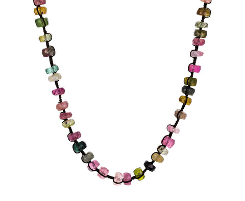 Multi Colored Tourmaline Beaded Necklace
