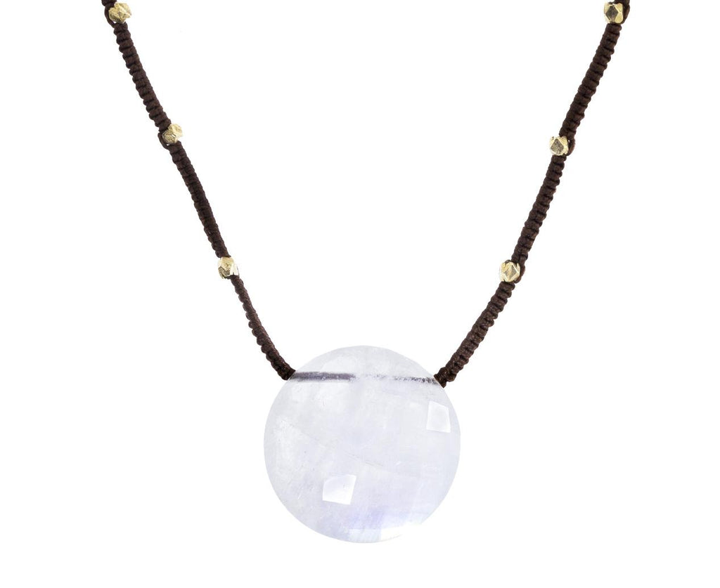 Rainbow Moonstone Coin Pendant Necklace zoom 1_danielle_welmond_moonstone_coin_necklace