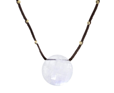 Rainbow Moonstone Coin Pendant Necklace - TWISTonline