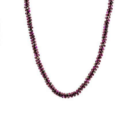 Garnet, Pyrite and Pink Quartz Necklace zoom 1_danielle_welmond_garnet_pyrite_quartz_necklace